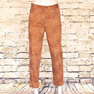 Ralph Lauren Snakeskin Print Pants / SZ 8P / NNT